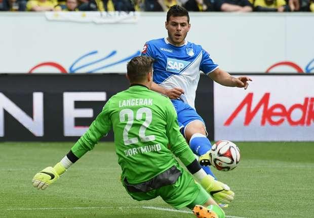 Kevin Volland (r.) brachte Hoffenheim zunächst in Front