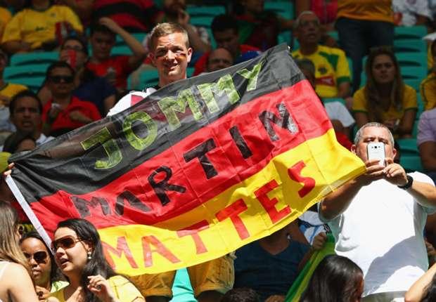 Deutsche Fans sind in Salvador de Bahia zahlreich vertreten