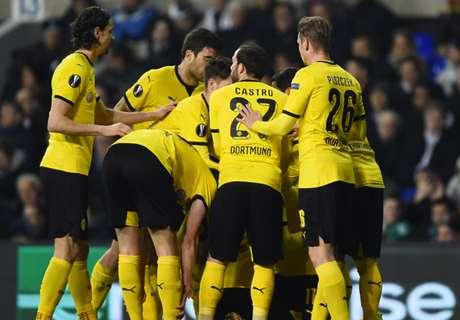 Liga Europa: Dortmund bate Tottenham