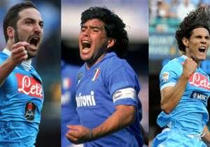 Niemand prägte Napoli so sehr, wie die Stars in den goldenen 90er-Jahren. Doch auch in der jüngsten Vergangenheit spielten einige Legenden dort - Goal hat die 20 besten zusammengestellt.