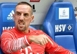 Franck Ribery saß gegen den HSV zunächst auf der Bank