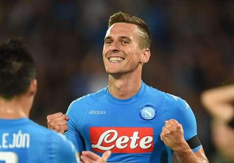Hoofdrol Milik bij winst Napoli op Milan