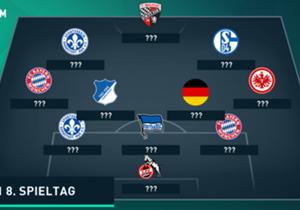 Die kleinen Teams proben in der Liga den Aufstand - und deshalb sind in unserer Top-11 einige Namen vertreten, die vor einem Jahr in Deutschland noch unbekannt waren. Hier kommt die Top-11 des Spieltags.