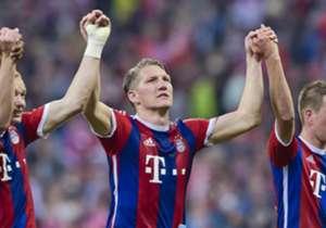 Am 30. Spieltag der Bundesliga könnten die Bayern bei Sieglosigkeit der Wölfe schon Meister werden - auch weil sie ihren Soll gegen Hertha BSC erfüllten. Hier kommen die besten Bilder des Spieltags!