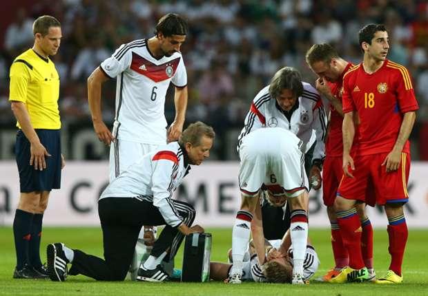 Marco Reus verletzte sich kurz vor der Pause.