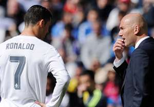 Cristiano Ronaldo e Zinedine Zidane