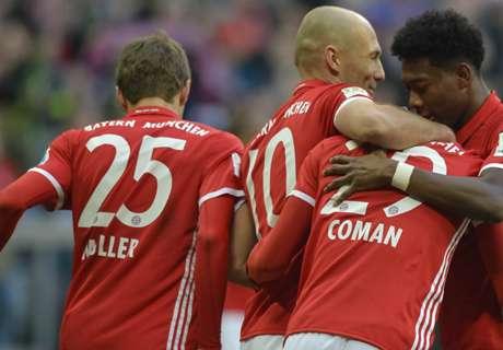 Bayern en Robben slachten HSV af