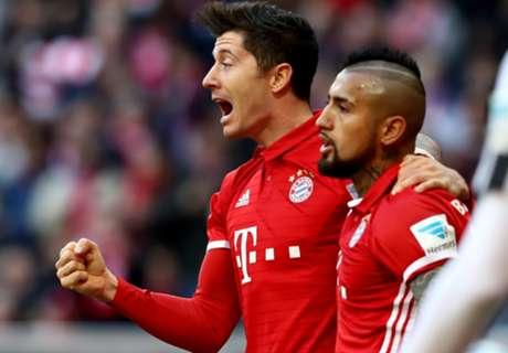 Bayern wint dankzij jubileumgoal 'Lewa'