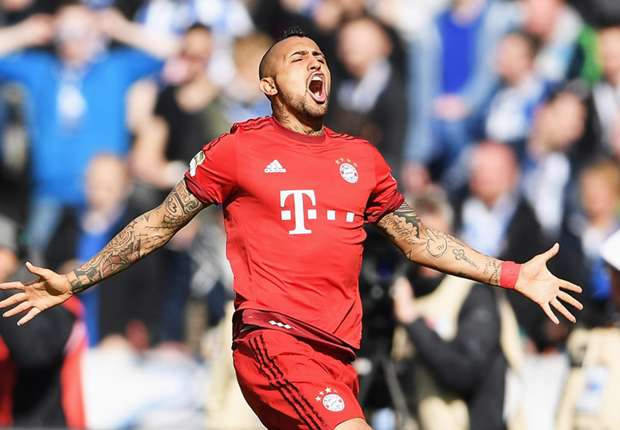 Hertha Berlin 0-2 Bayern Munich: Vidal and Douglas Costa on target as visitors edge closer to title