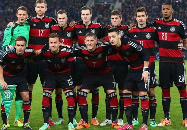 Die deutsche Nationalmannschaft vor dem Testspiel gegen Chile