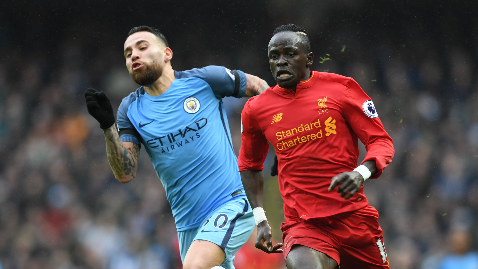 Mane Otamendi Manchester City Liverpool Premier League 19032017