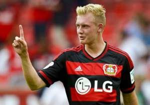 Julian Brandt ist derzeit on fire wie kaum ein Anderer. Sechs Tore in Serie gelangen dem Bayer-Youngster zuletzt. Goal präsentiert andere Bundesliga-Serientäter.