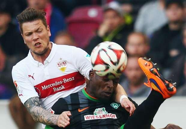 Ginzcek (l.) traf gegen Werder doppelt