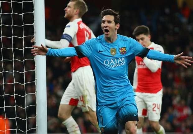 Arsenal 0-2 Barcelona: Messi double gives Luis Enrique's men the advantage
