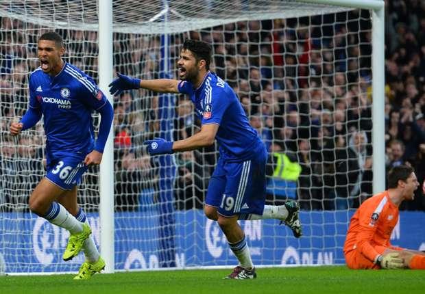 Beide Torschützen des FC Chelsea unter sich: Ruben Loftus-Cheek (l.) und Diego Costa