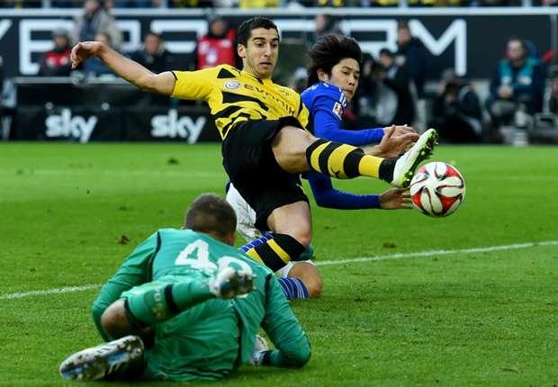 Dortmunds Mkhitaryan traf zum zwischenzeitlichen 2:0