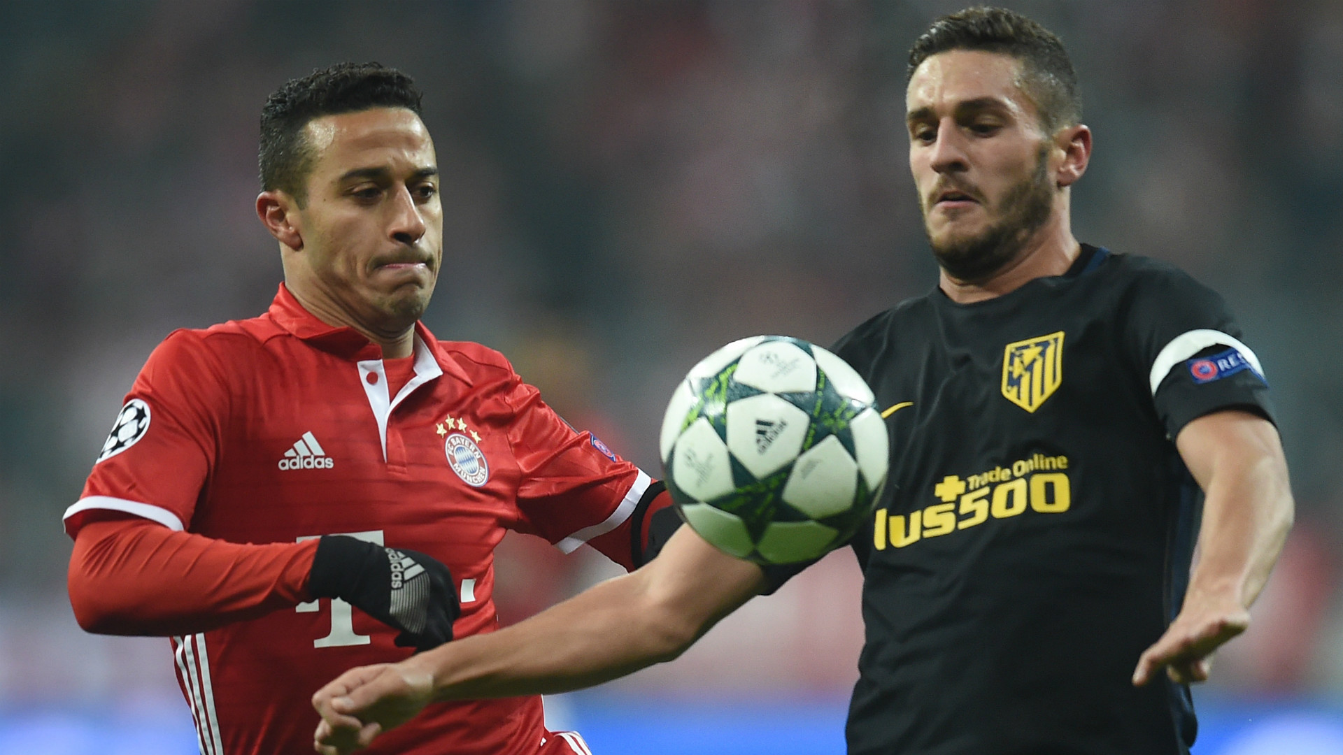THIAGO BAYERN MUNCHEN KOKE ATLETICO MADRID UEFA CHAMPIONS LEAGUE 06122016