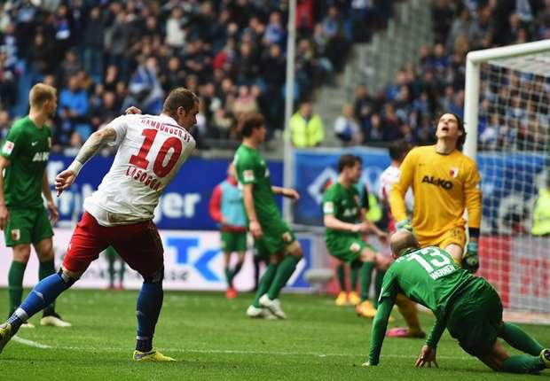 Pierre-Michel Lasogga traf gegen Augsburg doppelt