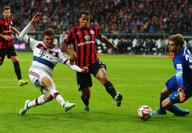Eintracht Frankfurt 0-4 Bayern Munich: Muller hat-trick fires champions to victory