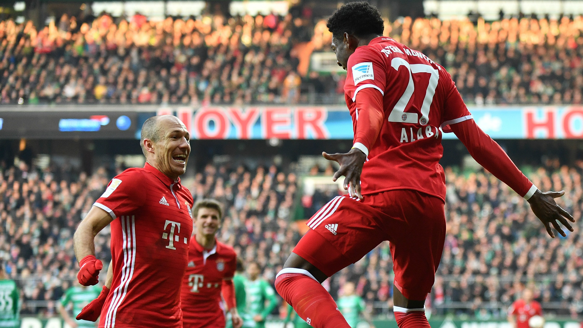 werder bremen 1 2 bayern munich robben alaba on target as ancelotti 39 s men extend run goal. Black Bedroom Furniture Sets. Home Design Ideas