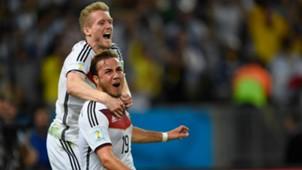 Mario Götze Andre Schürrle Deutschland Argentinien 13072014