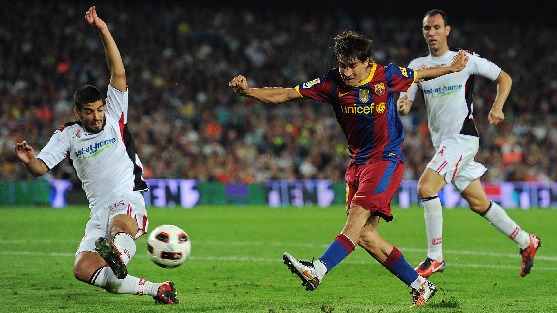 Bojan Krkic FC Barcelona Ivan Ramis RCD Mallorca Primera Division 10032010
