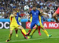 Olivier Giroud France Romania European Championship 10062016