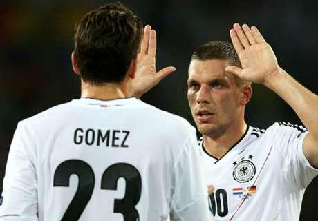 Podolski'den Mario Gomez'e GÖNDERME