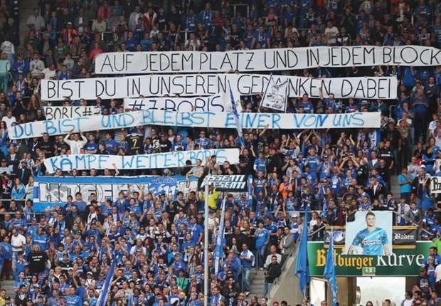 Die Fans unterstützen Vukcevic seit seinem Unfall