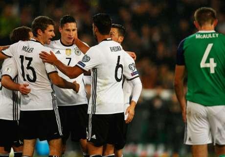 Eliminatorias: Alemania 2-0 Irlanda del Norte.