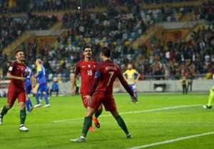 6) Portugal 6-0 Andorra | Eliminatórias | 07/10/2016 | No início da etapa complementar marcou o seu terceiro, e quarto de Portugal.