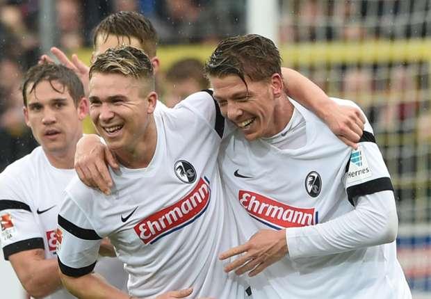 Mike Frantz (r.) feierte seinen vierten Bundesligatreffer in dieser Saison