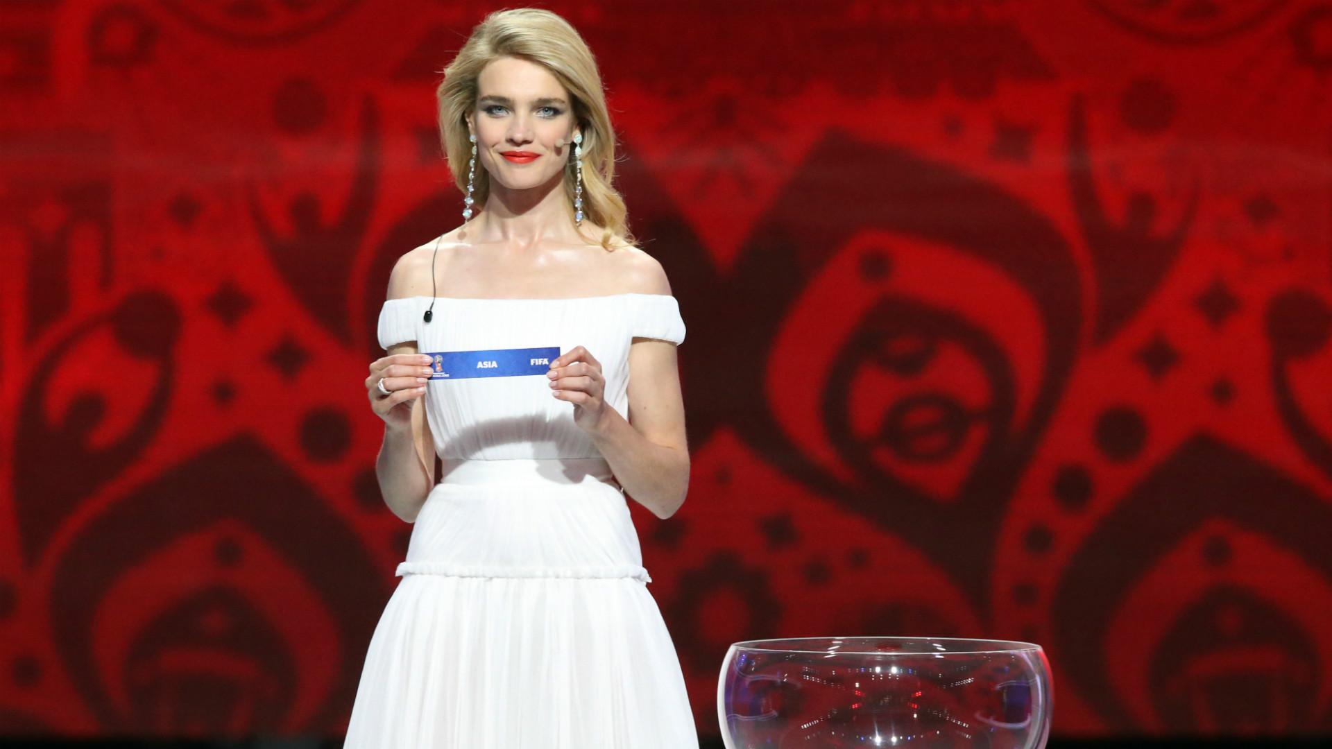 Natalia Vodianova FIFA World Cup Qualification Draw