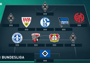 Gladbach dominiert! Nach dem überzeugenden Sieg gegen Werder Bremen haben es gleich drei Borussen in unsere Top-11 geschafft. Spieler vom BVB oder den Bayern sucht man jedoch vergeblich.
