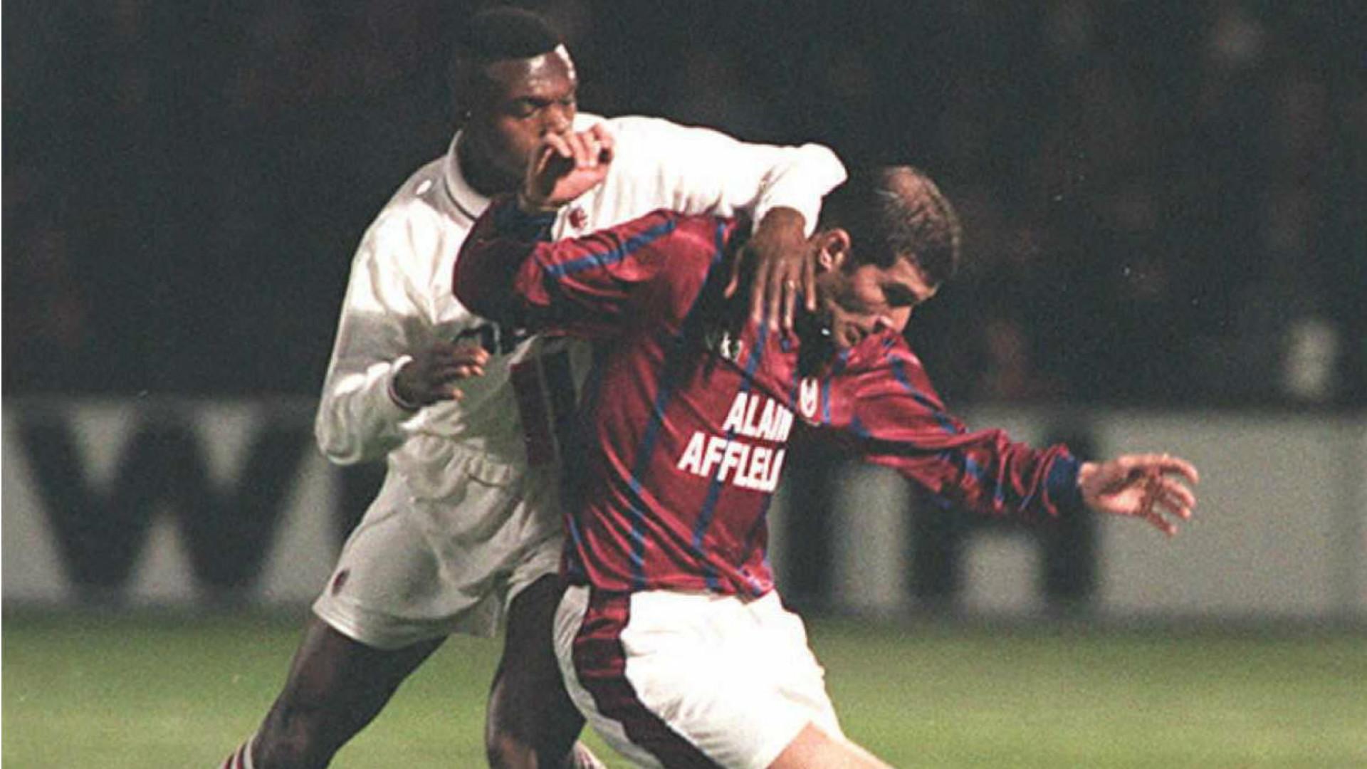 Zinedine Zidane Marcel Desailly Girondins Bordeaux AC Milan Goal