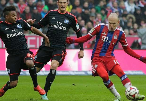 Bayern Munich 8-0 Hamburg: Robben and Ribery strike as champions run riot