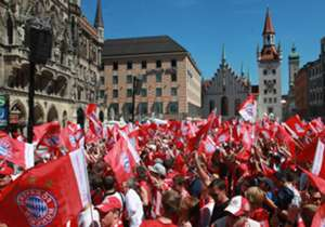 One week after Bayern Munich celebrated winning the Bundesliga, they returned to Marienplatz for a double celebration following their victory in the DFB-Pokal final.