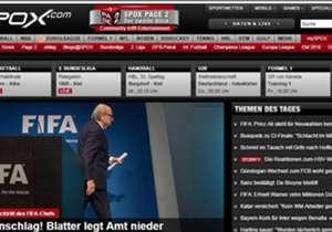"""Spox (Deutschland): """"Wahnsinn! Sepp Blatter erklärt auf einer kurzfristig anberaumten Pressekonferenz seinen Rücktritt! Er sei selbst zu dem Schluss gekommen. Das stellt alles auf den Kopf."""""""