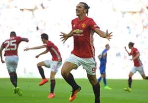 Erzielte seinen ersten Pflichtspieltreffer für United: Zlatan Ibrahimovic