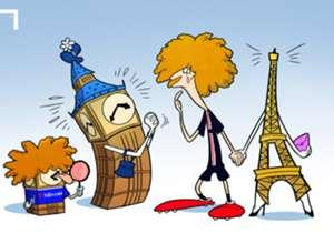 Eiffelturm oder Big Ben? Paris oder London? PSG oder Chelsea? David Luiz hat wohl die Qual der Wahl und scheint am Deadline Day hin und hergerissen.