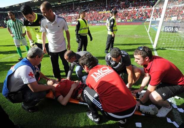 Fans wurden gleich vor Ort behandelt
