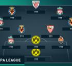 A seleção dos jogos de ida das quartas da Liga Europa