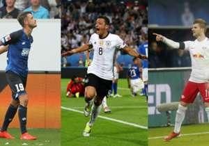 """In der kommenden Woche wird der Sieger der Goal 25 verkündet: Wer war der beste deutsche Fußballer im letzten Jahr? Zur Einstimmung gibt es hier die besten Torschützen in Pflichtspielen aus dem Kalenderjahr 2016.<p style=""""text-align: center;""""><a href=""""..."""