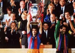 Participa como jugador en la Copa de Europa de Wembley contra la Sampdoria en 1992. La primera del club.