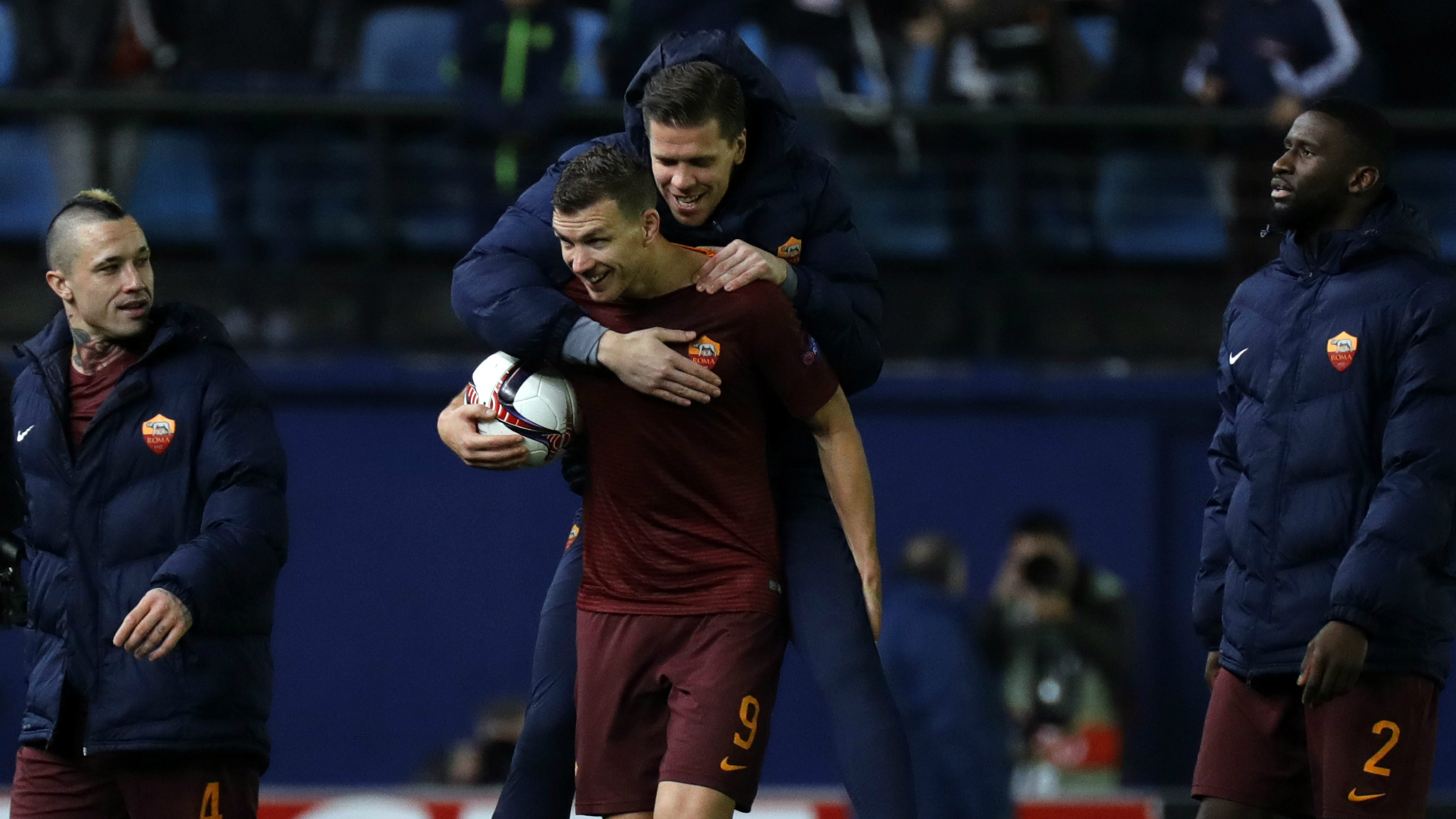 Edin Dzeko Villarreal Roma Europa League 16022017