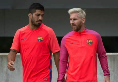 WATCH: Messi & Suarez in training