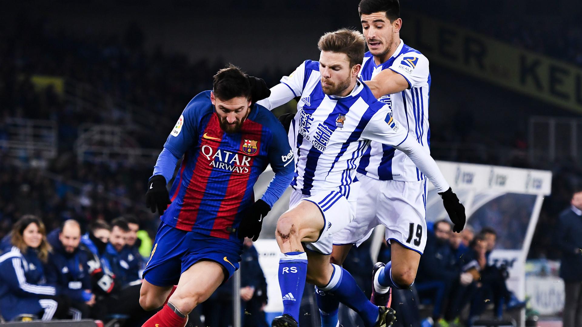 Messi Ilarramendi Yuri Real Sociedad Barcelona Copa del Rey