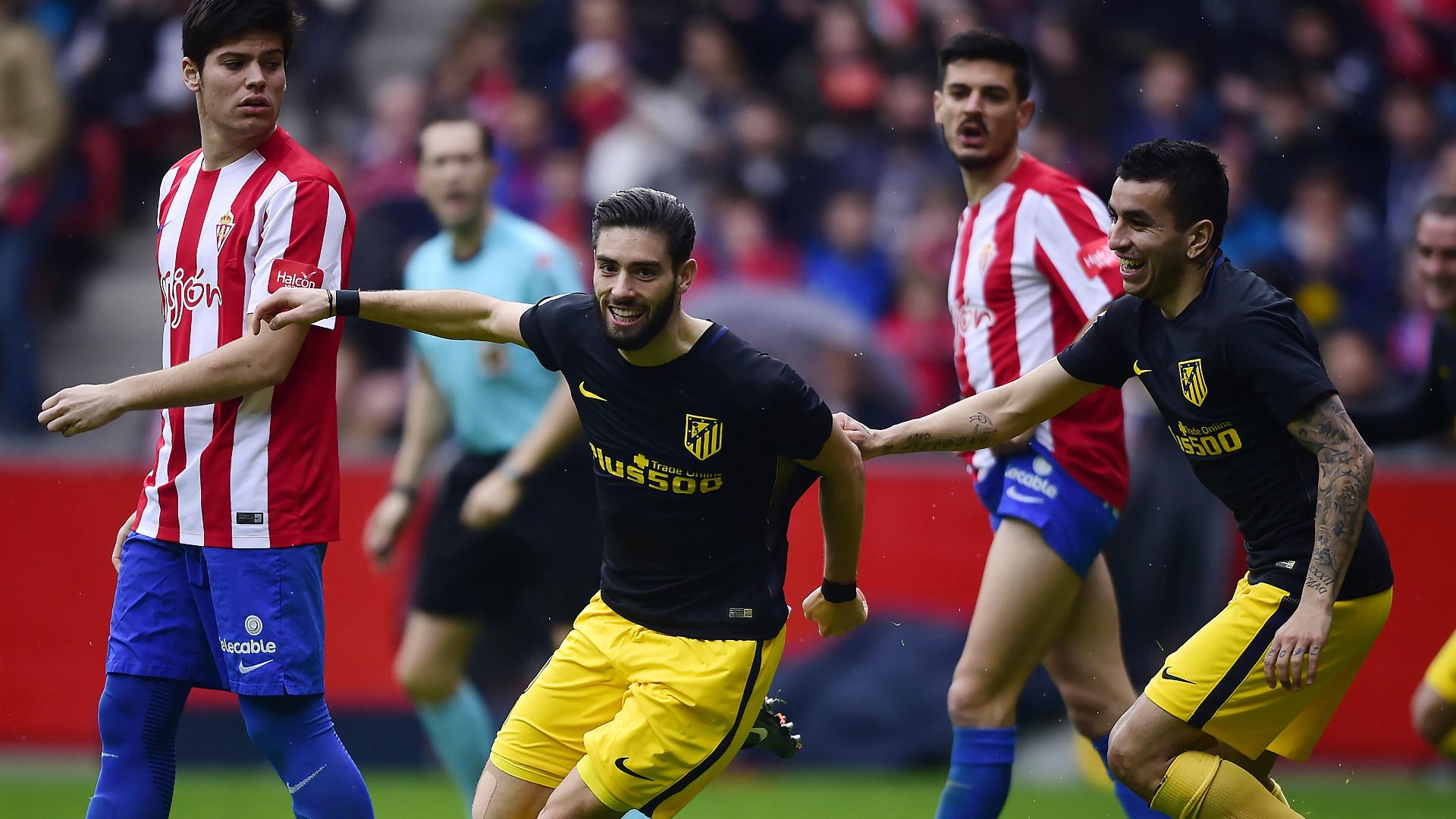 Gameiro comandó la goleada del Atlético de Madrid