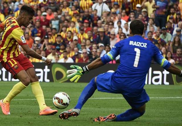 Barcelona 2-0 Athletic Bilbao: Neymar double secures victory for Enrique's men