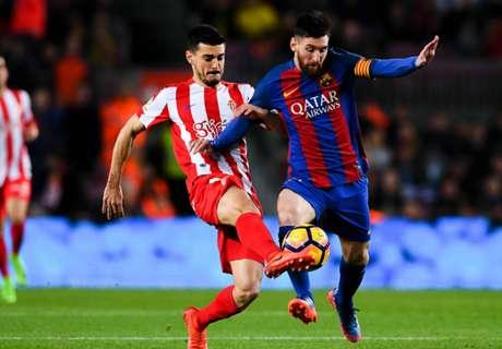 Messi fue sustituido ante el Sporting